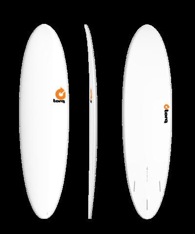 Серфборд TORQ TET Fun 7'2'' - Plain White