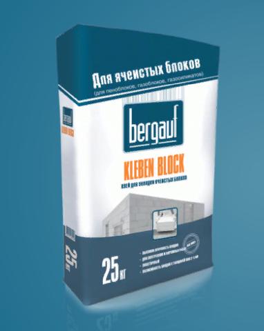 Клей для плитки Бергауф Клебен блок 25 кг