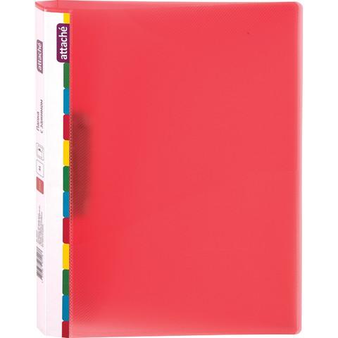 Папка с зажимом Attache Diagonal красный