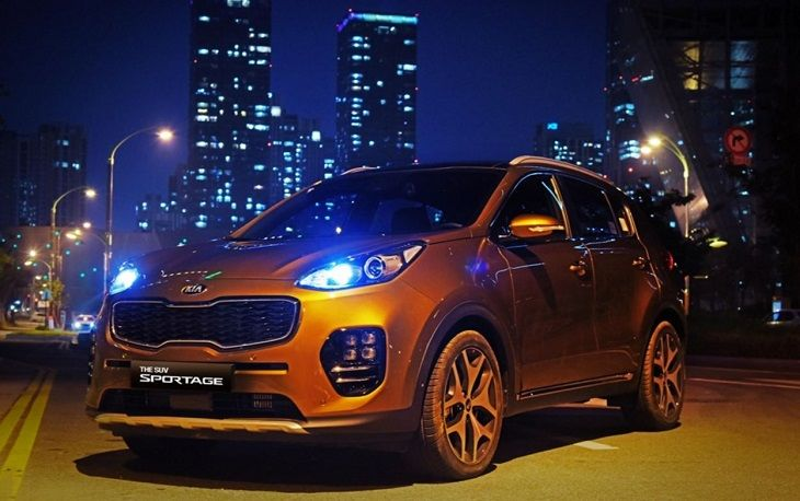 Фары головного света ксенон LED Hyundai / KIA для KIA Sportage IV 2016 - original roland cj 540 xc 540 xj 540 wiper belt 408p2m4 530 11929138 printer parts