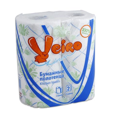 Бумажные полотенца ВЕЙРО Классик с рисунком 2 рул*12,5м 2 сл