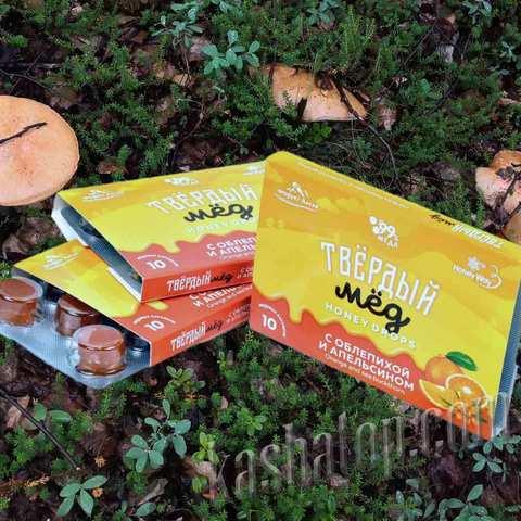 Твёрдый мёд с облепихой и апельсином для перекуса купить в магазине походной еды Каша из топора