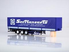 Semitrailer three-axle board MAZ-9758 Sovtransavto 1:43 AutoHistory