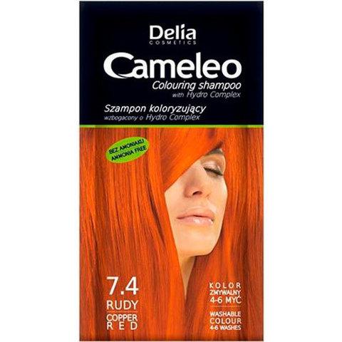 Delia Cosmetics Cameleo Оттеночный шампунь тон 7.4 рыжий (саше 40мл)