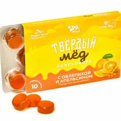 Твёрдый мёд с облепихой и апельсином купить недорого в магазине Каша из топора