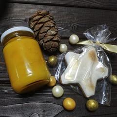Подарочный набор с медом и шишкой, 300 г.