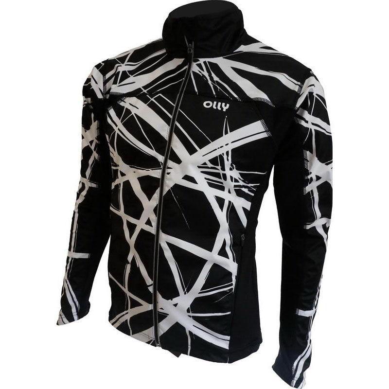 Лыжная ветрозащитная куртка Olly Bright Sport (140302) белая с мембраной softshell фото