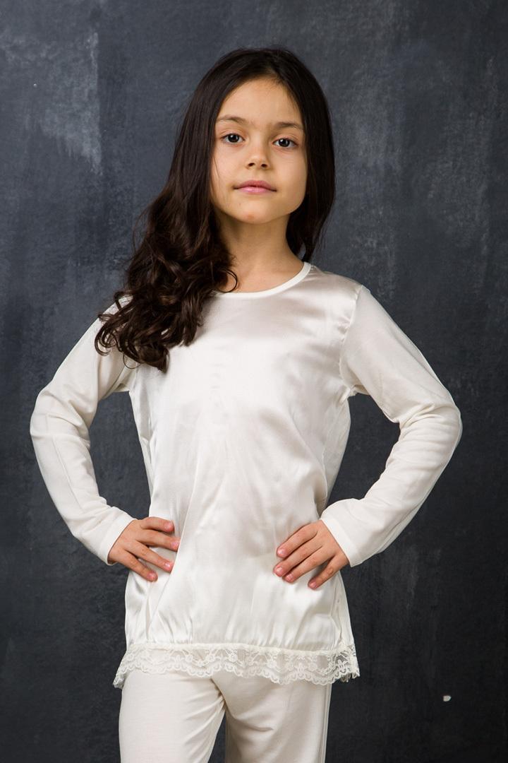 Детская пижама с шелком La Perla (Для девочек)