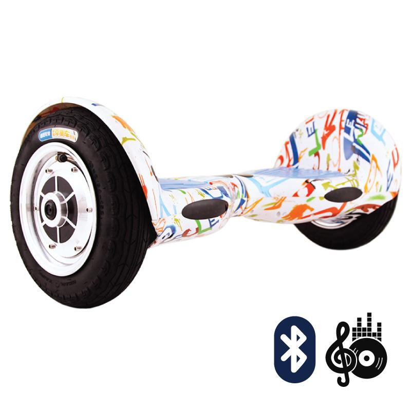 Smart Balance SUV 10  граффити белый (Bluetooth-музыка + сумка) - 10 дюймов, артикул: 616850
