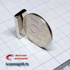 Неодимовый магнит (призма) 20х10х2 мм