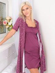 Евромама. Комплект для беременных и кормящих с волнистой отделкой, лиловый