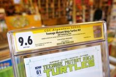 Teenage Mutant Ninja Turtles #61 CGC 9.6 со скетчем Джеффри Брауна и автографом Кевина Истмена