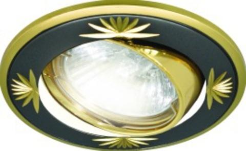 Светильник встраиваемый поворотный СВ 02-04 MR16 50Вт G5.3 чёрный/золото TDM