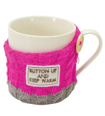 Кружка в свитере Boston Warehouse Sweater mug Button up