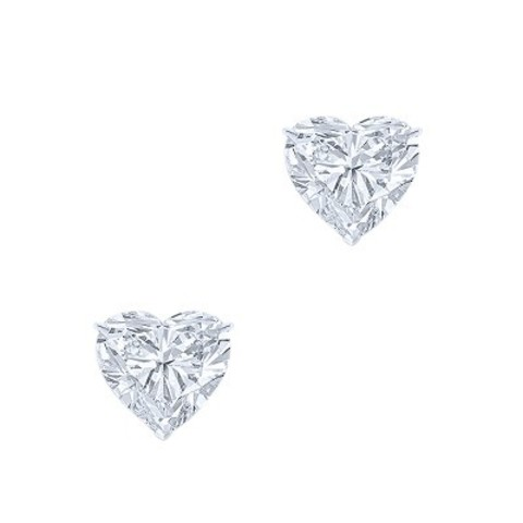 Пусеты HEART из серебра с цирконом в стиле Ko Jewelry 4837