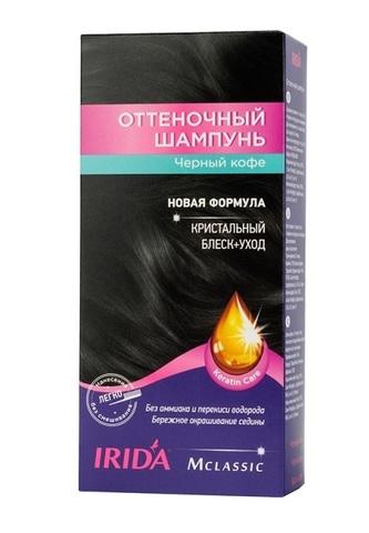 Irida Irida М classic Оттеночный шампунь для окраски волос Черный кофе 3*25мл