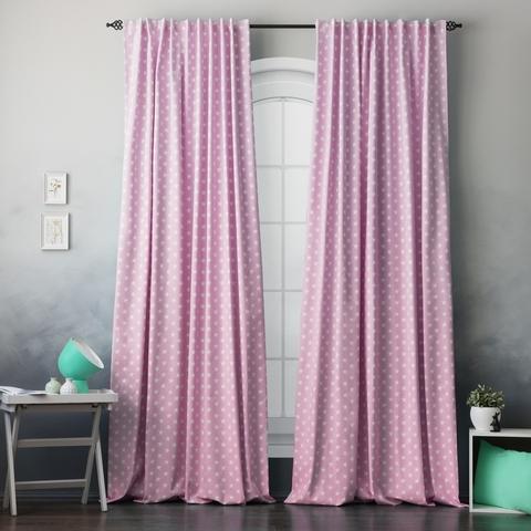 Комплект штор хлопок Star розовый