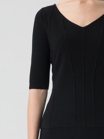Женский джемпер черного цвета из вискозы - фото 4