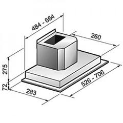 Вытяжка Korting KHI 6751 X схема