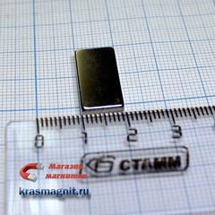 Неодимовый магнит (призма) 20х10х2 м