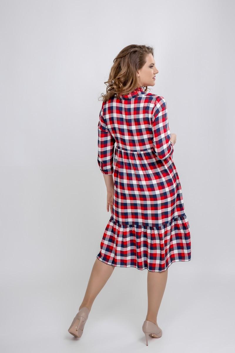 Платье 09600 клетка