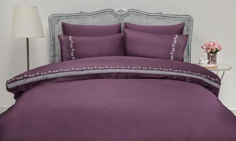 Постельное белье Gelin Home MIMOZA лиловый евро