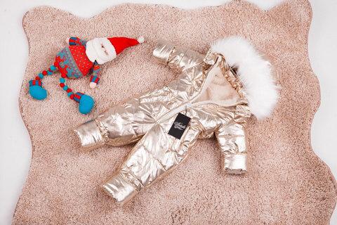 Зимний комбинезон детский цельный Look золото