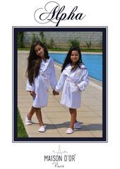 НАБОР для девочки: Халат детский с тапочками  ALPHA - АЛЬФА / Maison Dor (Турция) .