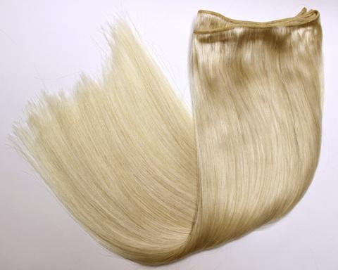 Тресс из натуральных волос длина 70 см-цвет блонд #613