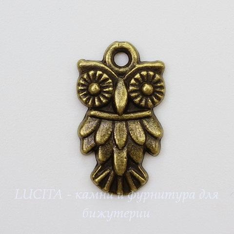 "Подвеска ""Сова"" (цвет - античная бронза) 20х12 мм"