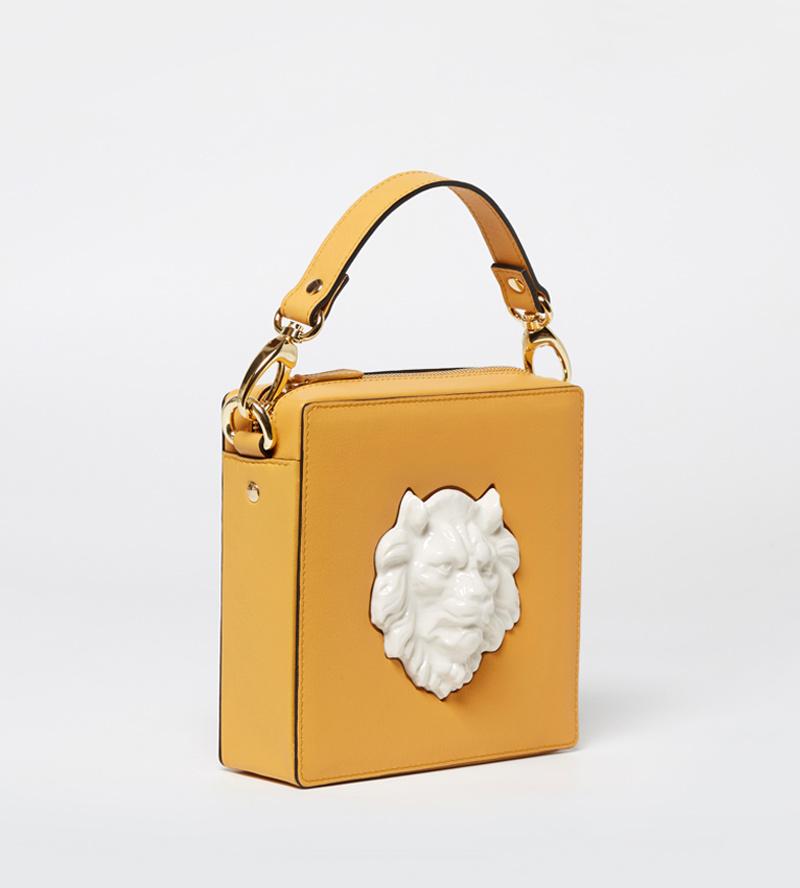 70e8634d808d Квадратная сумка из кожи Lion Mustard от ANDRES GALLARDO