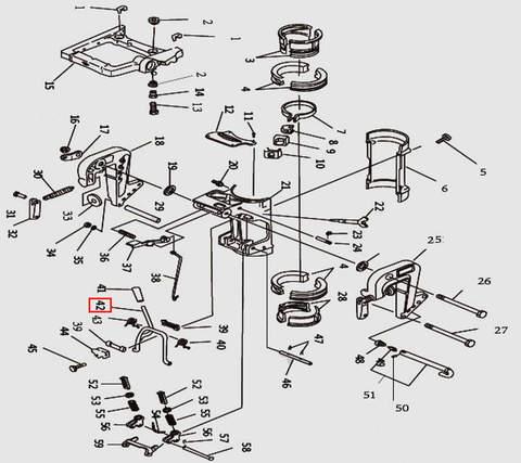 Рамка наклона для лодочного мотора T9.8 Sea-PRO (11-42)