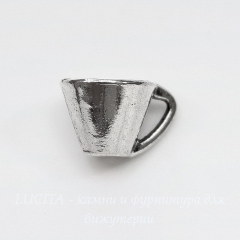 "Подвеска ""Чашечка"" (цвет - античное серебро) 10х8 мм"