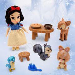 Игровой набор Кукла малышка Белоснежка в чемоданчике с игрушками - Snow White, Disney Animators' Collection