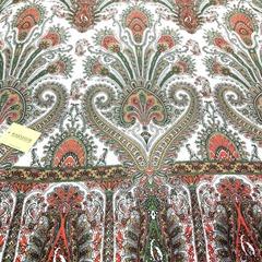 Шарф с красно-зеленым узором в Русском стиле, магазин aksisur.ru