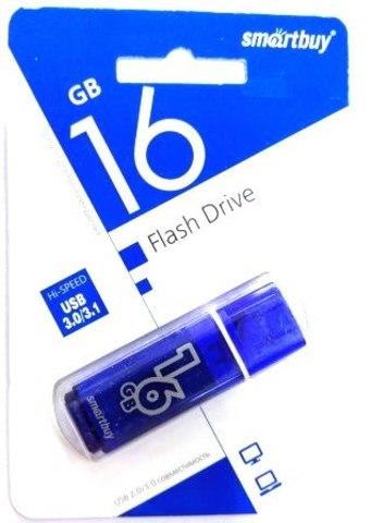 Флеш-накопитель USB 3.0 16GB  Smart Buy  Glossy  тёмно-синий