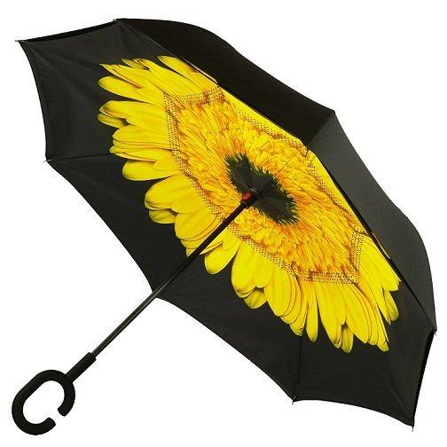 Часы/Рюкзаки/Зонты Зонт наоборот Цветок желтый 1650_2.jpg