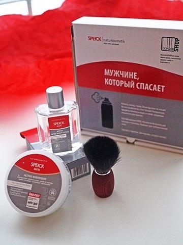 Подарочный набор для бритья с помазком