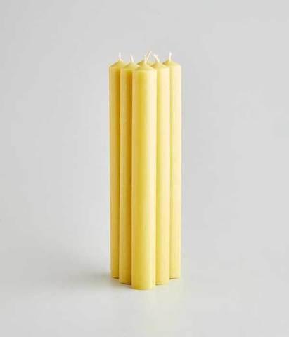 Классические декоративные свечи 20 см золотые 6 шт, St.Eval
