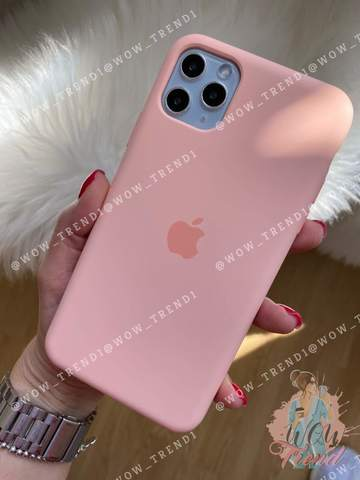 Чехол iPhone 11 Silicone Case /grapefruit/ розовый грейпфрут original quality