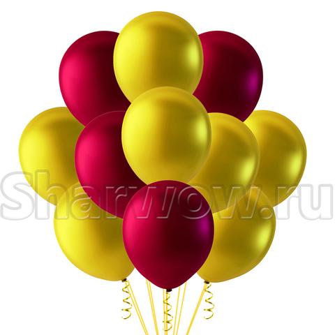 Облако из перламутровых шаров, Золотой-Бургунди
