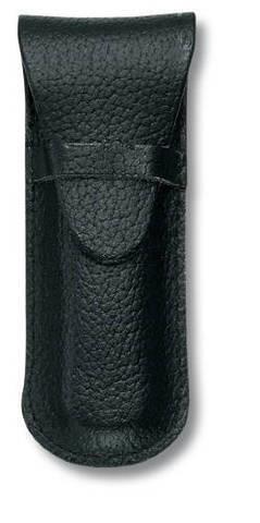 Чехол кожаный Victorinox, черный для Swiss Army Knives or EcoLine 84 мм, толщина ножа 2 уровня