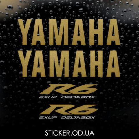 Набор виниловых наклеек на мотоцикл YAMAHA YZF-R6 2009, ORACAL® 751C