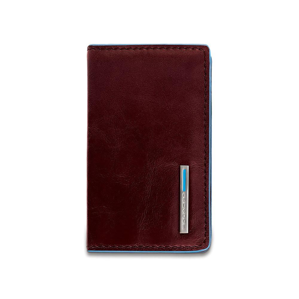 Чехол для кредитных/визитных карт Piquadro Blue Square, цвет коричневый, 10x6x1,5 см (PP1263B2/MO)