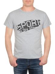 0723-2 футболка мужская, серая