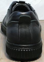 Кожаные мужские кеды Komcero 9K9154-734 Black-Grey