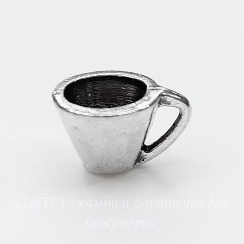 "Подвеска ""Чашечка"" 10х8 мм (цвет - античное серебро)"