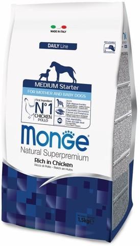 Monge Dog Medium Starter корм для щенков средних пород 12 кг.