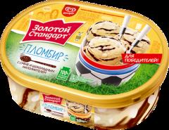 """Мороженое """"Золотой стандарт"""" пломбир суфле в шоколаде, 475 г"""