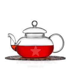 """Чайник заварочный """"Смородина"""" 600 мл, стеклянный"""